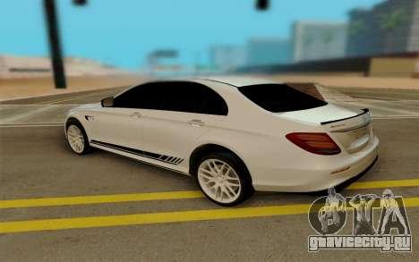 Mercedes-Benz E63 AMG W213 для GTA San Andreas вид сзади слева