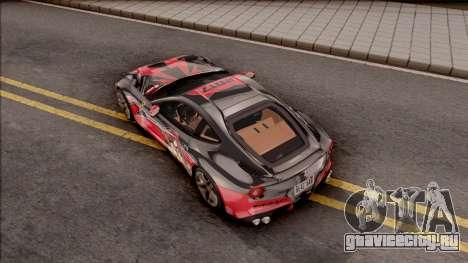 Ferrari F12 Berlinetta Kurumi Itasha Rezurrecti для GTA San Andreas вид сзади