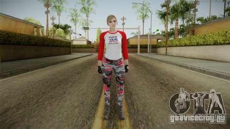 Gun Running Female Skin Red для GTA San Andreas второй скриншот