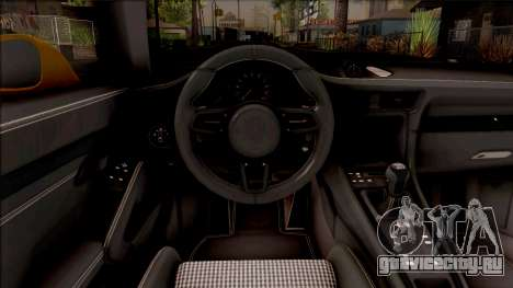 Porsche 911 R для GTA San Andreas вид изнутри