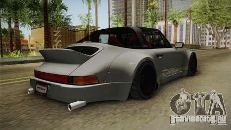 Porsche 911 RWB Terror 1982 для GTA San Andreas вид сзади слева