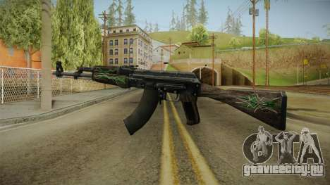 CS: GO AK-47 Emerald Pinstripe Skin для GTA San Andreas второй скриншот