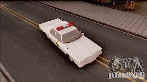 Dodge Monaco Montana Highway Patrol v2 для GTA San Andreas вид справа
