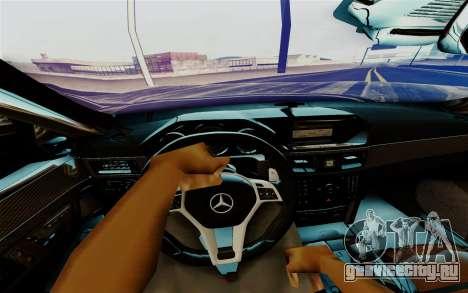 Mercedes-Benz E500 для GTA San Andreas вид изнутри