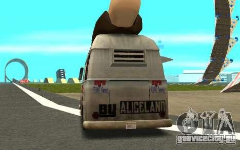 HotDog Fat Tony Tacos Tining 4X4 для GTA San Andreas вид сзади слева