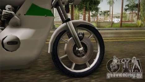 New Police Bike v2 для GTA San Andreas вид сзади