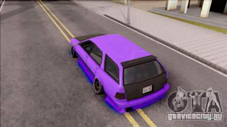 Stratum Stanced With Neon для GTA San Andreas вид сзади