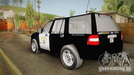 Ford Expedition CHP для GTA San Andreas вид слева