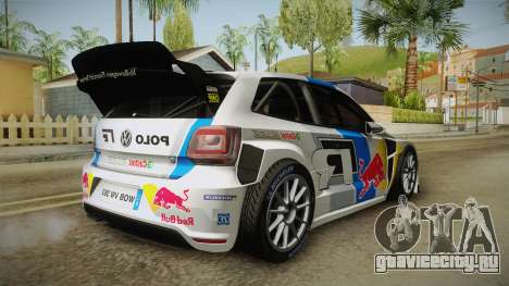 Volkswagen Polo R WRC для GTA San Andreas вид справа