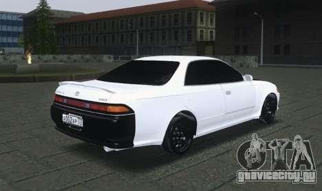 Toyota Mark II для GTA San Andreas вид сзади слева