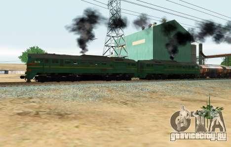 Грузовой Тепловоз 2М62 1184 Машка для GTA San Andreas вид сзади слева
