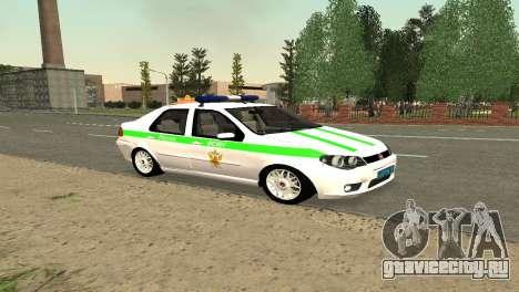 Fiat Albea ФСИН для GTA San Andreas вид слева