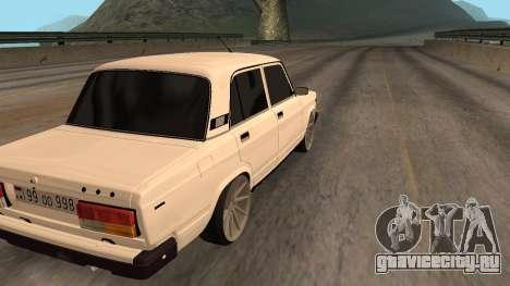 VAZ 2107 Armenian для GTA San Andreas вид справа