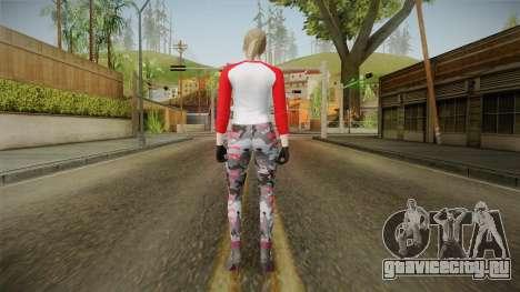 Gun Running Female Skin Red для GTA San Andreas третий скриншот