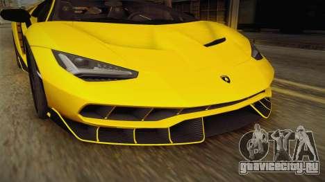 Lamborghini Centenario LP770-4 v1 для GTA San Andreas вид сбоку