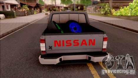 Nissan Ddsen Skrab 2016 для GTA San Andreas вид сзади слева