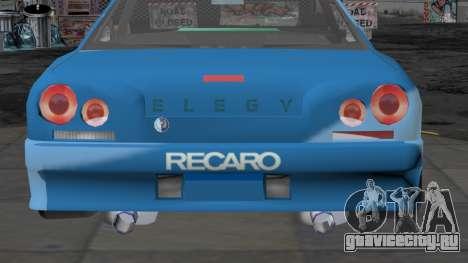 Annis Elegy RH-7 для GTA San Andreas вид изнутри