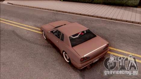 New Elegy v2 для GTA San Andreas вид сзади