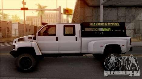 GMC Topkick C4500 Off-Road для GTA San Andreas вид слева