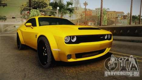 Dodge Challenger Demon 2018 для GTA San Andreas