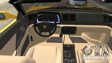 Ferrari F355 Spider для GTA San Andreas вид изнутри