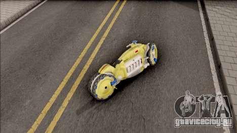 Dodge Tomahawk Gold для GTA San Andreas вид сзади слева