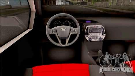 Hyundai i20 для GTA San Andreas вид изнутри