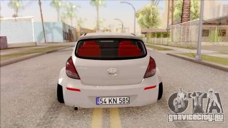 Hyundai i20 для GTA San Andreas вид сзади слева