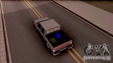 Nissan Ddsen Skrab 2016 для GTA San Andreas вид сзади