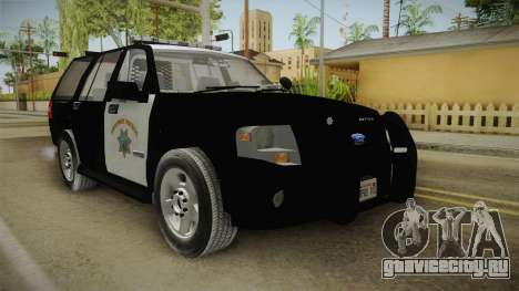 Ford Expedition CHP для GTA San Andreas вид справа