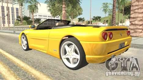 Ferrari F355 Spider для GTA San Andreas вид слева