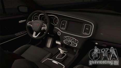 Dodge Charger Hellcat для GTA San Andreas вид изнутри