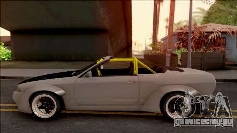 Nissan Skyline R32 Cabrio Drift Rocket Bunny для GTA San Andreas вид слева