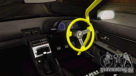 Nissan Skyline R32 Cabrio Drift Rocket Bunny v2 для GTA San Andreas вид изнутри
