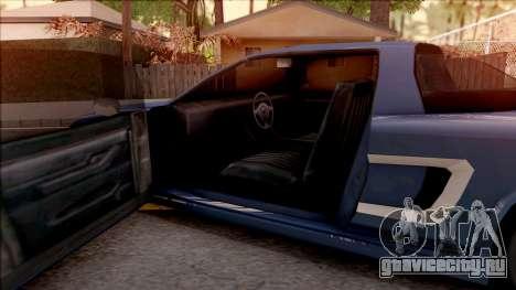 BlueRay Dodge Infernus для GTA San Andreas вид изнутри
