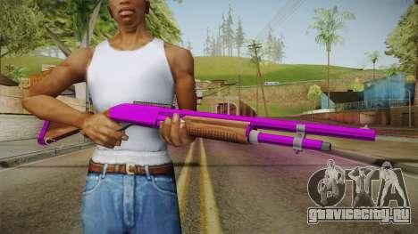 Purple Shotgun для GTA San Andreas третий скриншот
