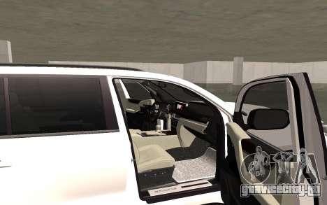 Lexus LX570 2016 для GTA San Andreas вид изнутри