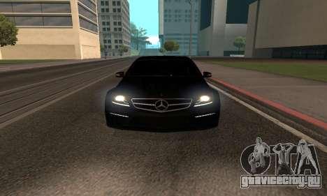 Mercedes-Benz C63 Armenia для GTA San Andreas вид сзади слева