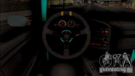 BMW M3 E36 Drift v2 для GTA San Andreas вид изнутри