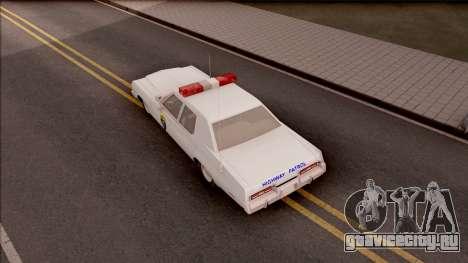Dodge Monaco Montana Highway Patrol v2 для GTA San Andreas вид сзади