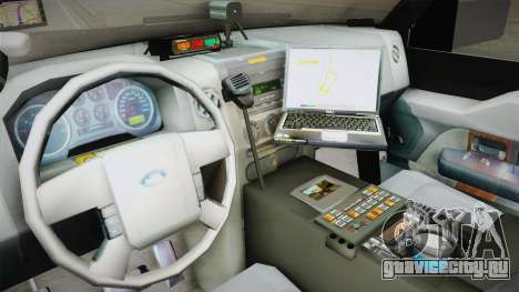 Ford Expedition CHP для GTA San Andreas вид изнутри