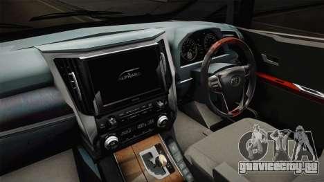 Toyota Vellfire 2016 для GTA San Andreas вид изнутри