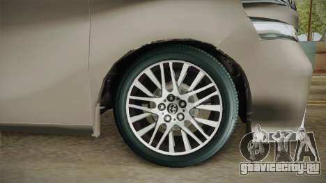 Toyota Vellfire 2016 для GTA San Andreas вид сзади