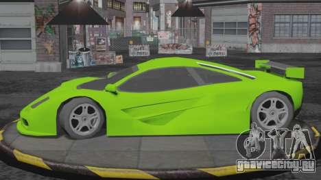 Progen GP1 SA Style для GTA San Andreas вид сзади слева