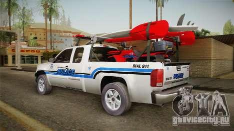 GMC Sierra San Andreas Police Lifeguard 2010 для GTA San Andreas вид слева