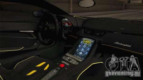 Lamborghini Centenario LP770-4 v1 для GTA San Andreas вид изнутри