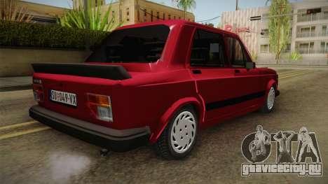 Zastava-Fiat 128 для GTA San Andreas вид сзади слева