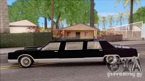Driver PL Chauffeur для GTA San Andreas вид слева