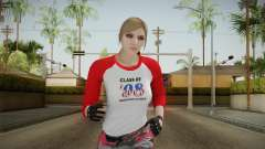 Gun Running Female Skin Red для GTA San Andreas