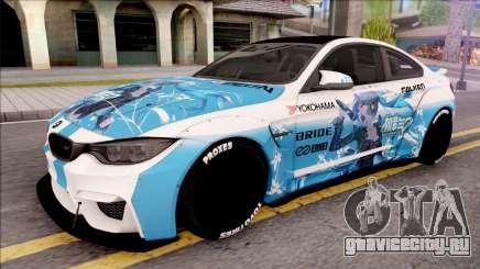 BMW M4 Itasha Hatsune Miku 2017 Liberty Walk для GTA San Andreas